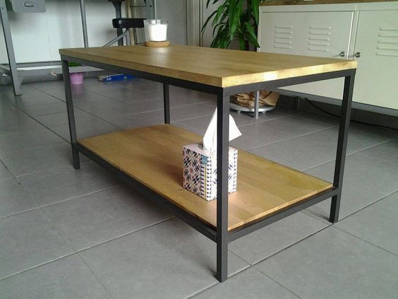 Transformation d'une table VITTSJÖ  #ikea #tablebasse #VITTSJO