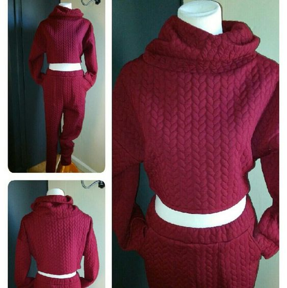 """Super Sexy Jogging Suit A new spin on the typical jogging suit. The material is very thick and durable. Never worn L 39"""" Pants Jumpsuits & Rompers"""