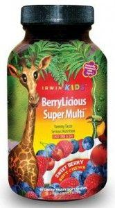 BerryLicious Super Multi by Irwin Naturals #madeinUSA Gummy multi vitamins for kids