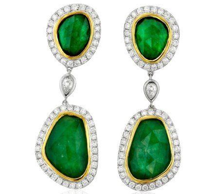 Yael Designs' #emerald slice #earrings