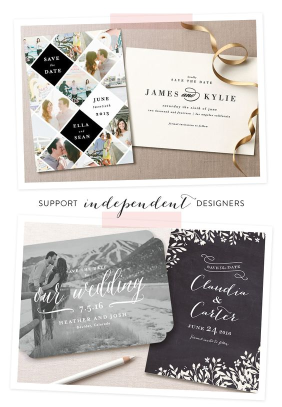 Minted Save the Date Collection + A Giveaway!  Read more - http://www.stylemepretty.com/2014/02/25/minted-save-the-date-collection-a-giveaway/