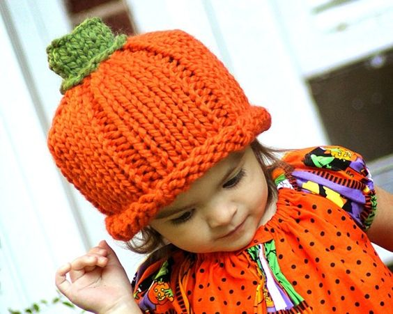 Pumpkin hat by ME!  @Stockannette on @Etsy; photo by Owens Photography http://www.facebook.com/profile.php?id=1058119803