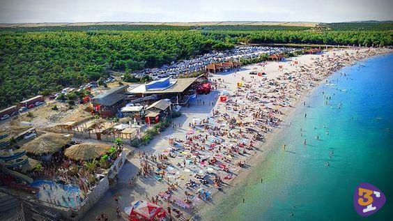 Playa de Zrce, Isla de Pag, Croacia