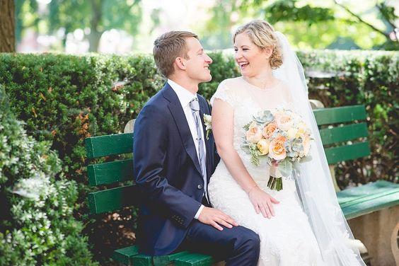 Wedding Flowers   Bridal Bouquets   Centerpieces   Flowers  #gardenrose #succulent #queenanneslace #DahlgrenChapel