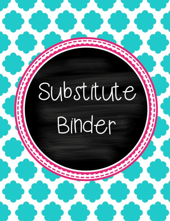 Simply Creative in Kentucky: Substitute Binder... Giveaway!