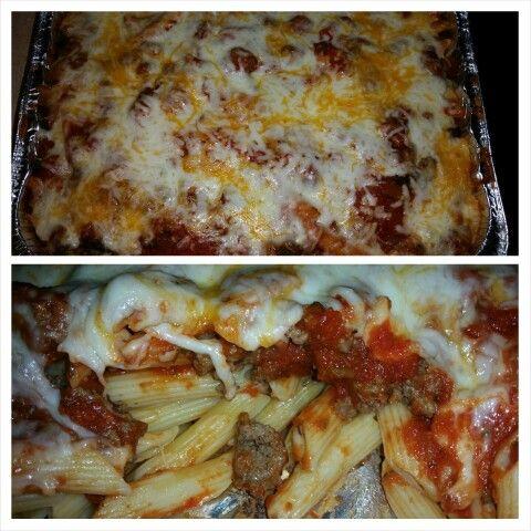 Homemade pasta bake