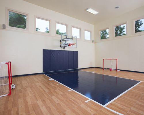 Hardwood Indoor Home Basketball Court Home Basketball Court Basketball Room Indoor Sports Court