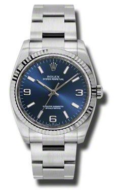 Rolex - Oyster Perpetual No-Date Large - 36mm - Fluted Bezel #116034BLAIO
