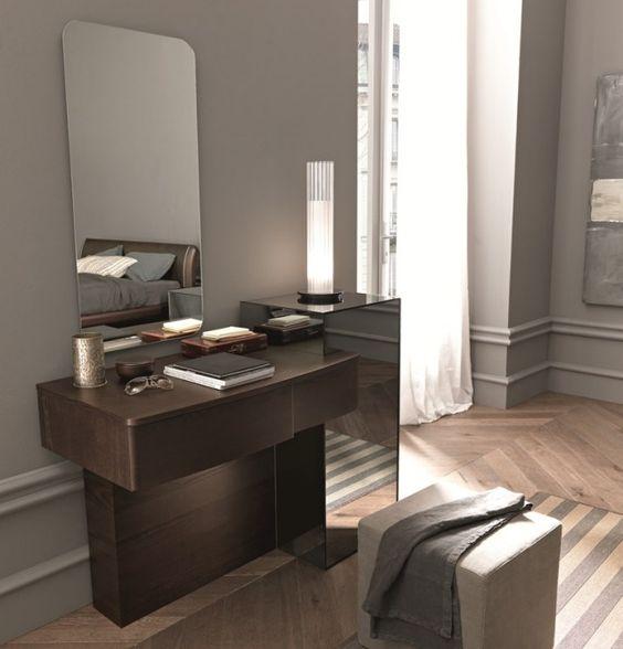 Moderner Design-Schminktisch Holz Wandspiegel Sma Mobili Trendy