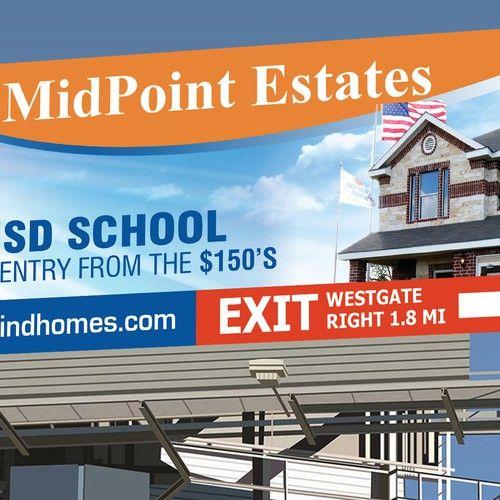Real Estate Billboard 14 X 48 Signage Contest Sponsored Design Signage Winning Tpalacios Signage Custom Signage Creative Flyer Design
