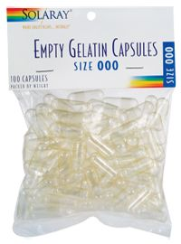 Solaray, empty gel capsules PERFECT FOR MAKING GLITTER PILLS