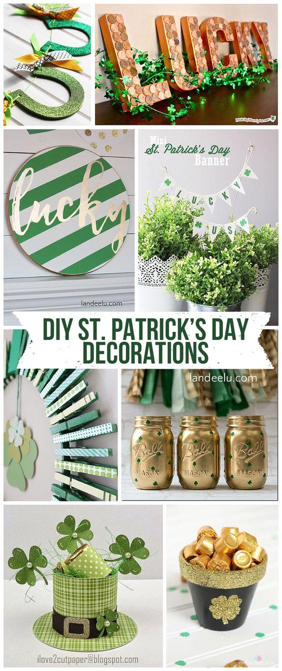 DIY St. Patrick's Day Decorations! So many awesome ideas! | landeelu.com