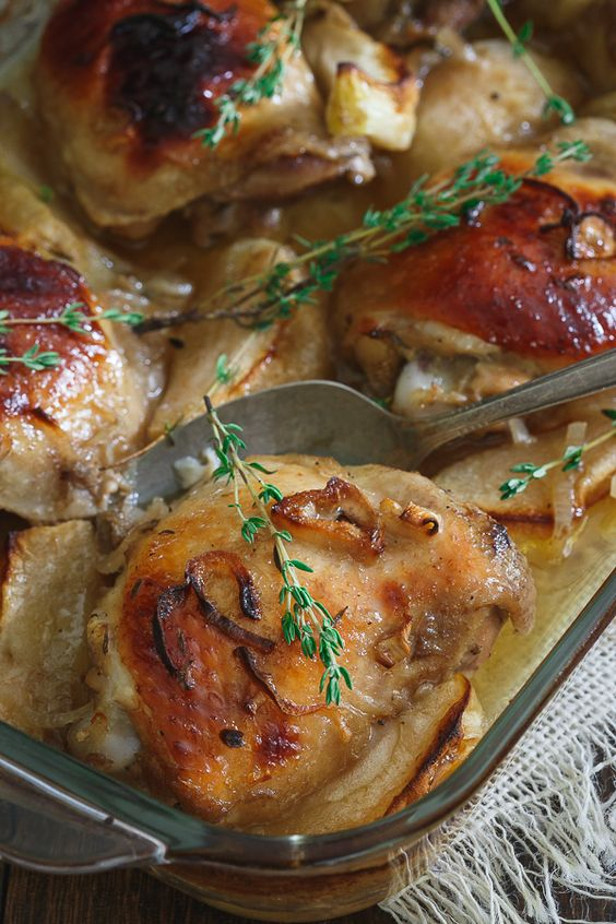 Maple Ginger Chicken Thighs _ An easy maple ginger marinade turns into ...