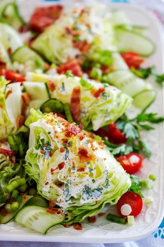 Wedge Salad with Buttermilk Ranch Dressing