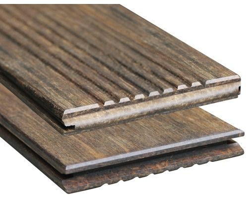 Bambus Terrassendiele Mit Nut 18x137x1850 Mm In 2020 Terrassendielen Terrassendielen Bambus Diele