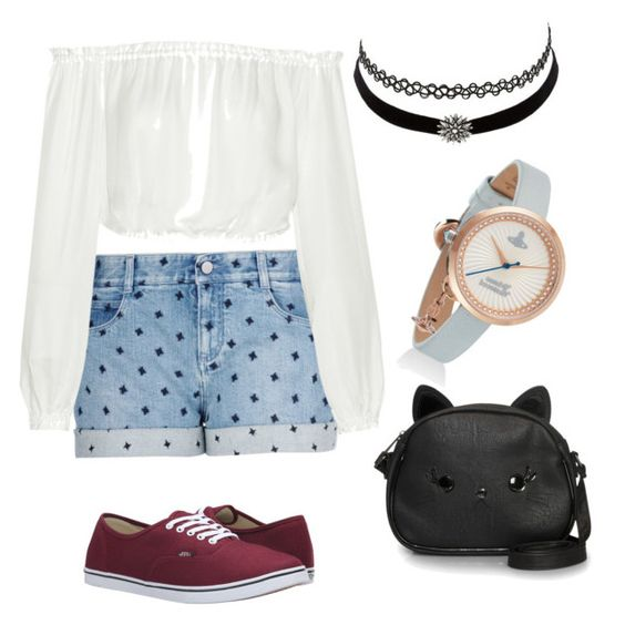 """""""Dotie cute pie"""" by leenanellie ❤ liked on Polyvore featuring STELLA McCARTNEY, Elizabeth and James, Charlotte Russe, Loungefly and Vans"""