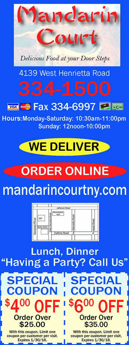 Mandarin Court delivers! Order online today and save with these great coupons. Authentic Asian food. www.mandarincourtny.com/menu.aspx