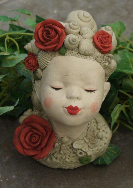 Rosenkuss, Skulptur, Vintage, Shabby, Rosen von Mandagora auf DaWanda.com