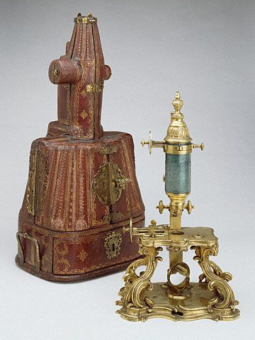 Compound Microscope and Case (Getty Museum):