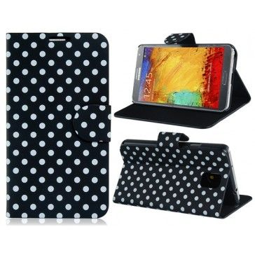 Traditional Polka Dots Black Samsung Galaxy Note 3 Case