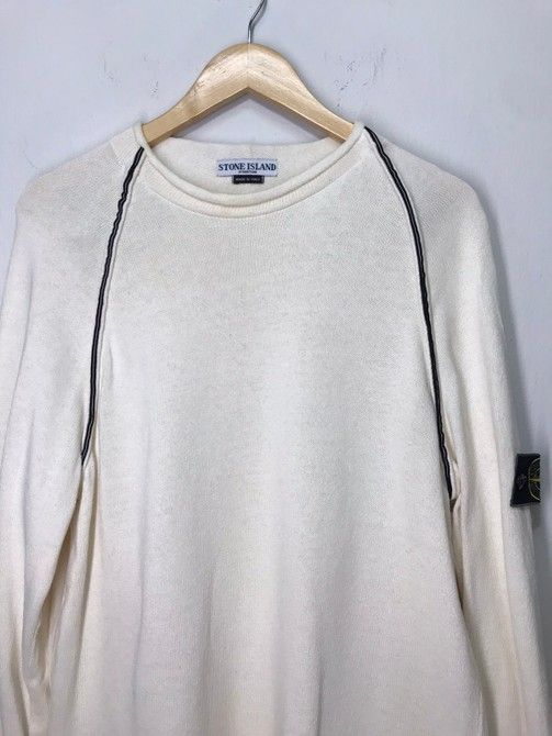Stone Island Vintage Stone Island Knitwear Long Sleeves T Shirt Crewneck Size M 126 In 2020 Long Sleeve Tshirt Knitwear Shirts