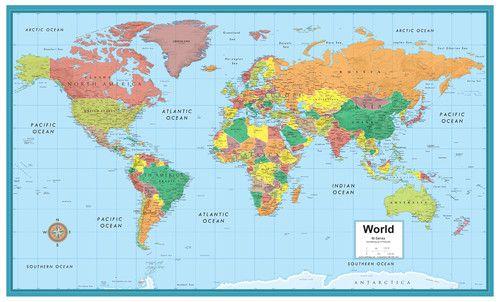 Rand Mcnally M Series World Wall Map Serie Tvn Bienvenida Realidad