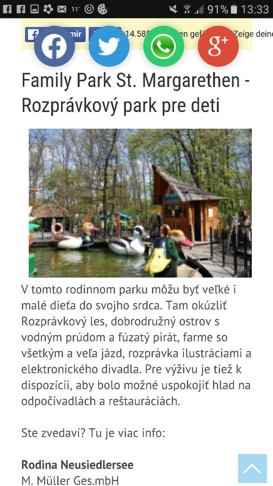 Family park St. Margethen