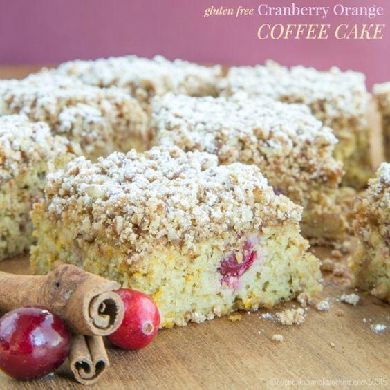Gluten Free Cranberry Orange Coffee Cake and #ChristmasWeek Giveaway!