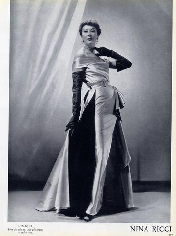 Nina Ricci 1952 Evening Gown