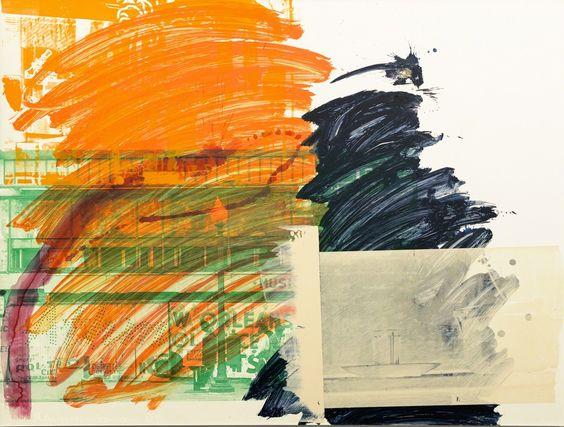 Robert Rauschenberg, Tangerine Splash (Urban Bourbon), 1994, Edward Tyler Nahem Fine Art LLC