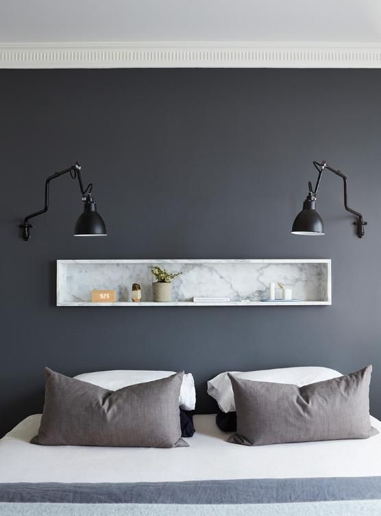 modern deco grey walls grey and the penny. Black Bedroom Furniture Sets. Home Design Ideas