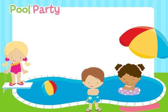 Piscina 33 Invitaciones De Cumpleaños Fiestas En La