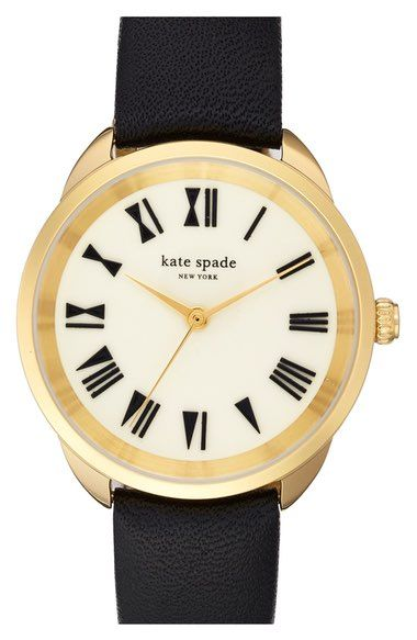 kate spade new york 'crosstown' leather strap watch, 34mm available at #Nordstrom