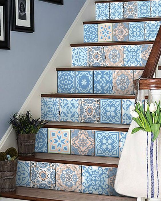 24 tile stickers Mexican style stickers mixed for walls Kitchen bathro – alegria-m