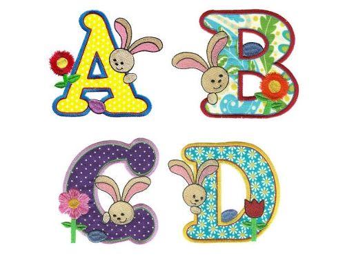 Lindo alfabeto de p scoa colorido alfabeto letras de p scoa com coelho para imprimir - Figuras decorativas grandes ...