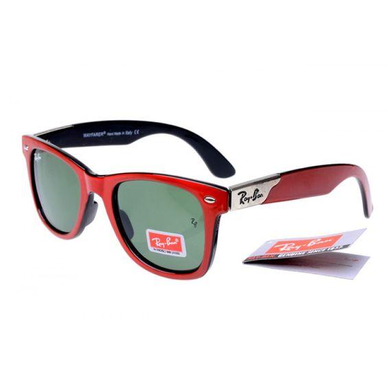 ray ban 2140 sale  Red Ray Ban 2140 Wayfarer Sunglasses Discount Sale RWS07