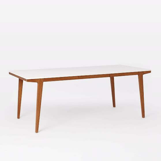Modern Dining Table Expandable 60 To 80 Pecan Expandable
