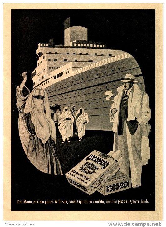 Original-Werbung/ Anzeige 1952 - 1/1 Seite - NORTH STATE CIGARETTEN - ca. 160 x 230 mm