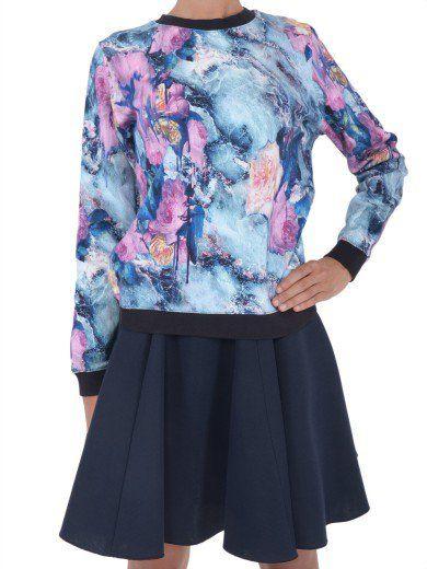 MSGM Printed Sweatshirt. #msgm #cloth #fleeces-tracksuits