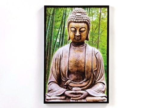BUDDHA Figur gold 40 cm Asia Deko Garten Teich Koi ASIEN BUDDHISMUS Dekoration