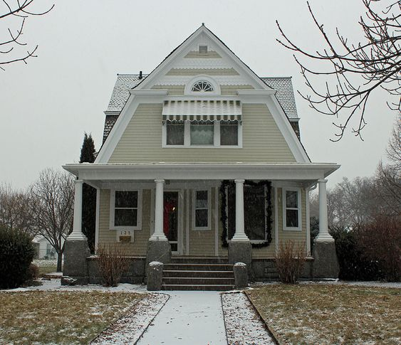 I love this roofline dutch colonial with cross gable roof for Gambrel gable