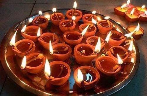10 Pcs Indian Clay Oil Lamps Mitti Diye Diya Clay Occasions Free Cotton Wicks Handmade Festival Lights Diwali Lights Diwali Lamps