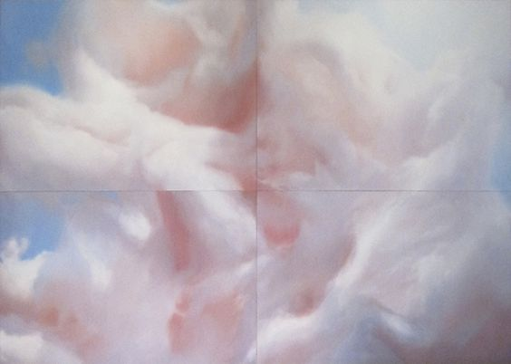 Will Cotton, COTTON CANDY CLOUD (COCKAIGNE), 2011, oil on linen, 10x14 feet in four 5x7 foot panels. Courtesy of the artist and Mary Boone Gallery