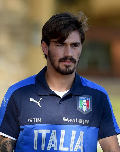 Alessio Romagnoli of Italy looks on prior to the training session at the club's training ground at Coverciano on August 29, 2016 in Florence, Italy.