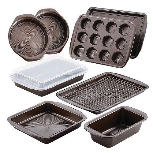 Bakeware Set Nonstick 10 Pieces Cookware Muffin Tin Loaf Cake Pans