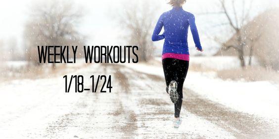 Nicole Kiernan Fitness: Weekly Workouts 1/18-1/24