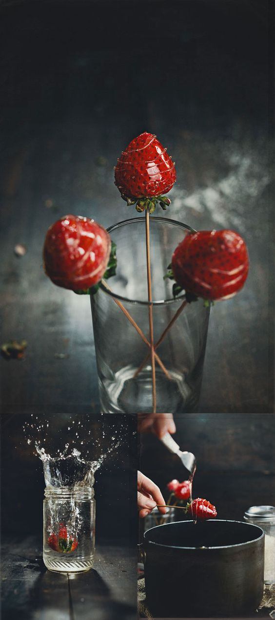 candied strawberries. Would be cute paired with chocolate covered ones