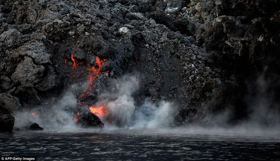 The National Institute of of Geophysics and Volcanology (INGV) has described the eruptions...