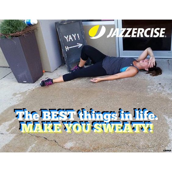 That's what Jazzercise does for you! Sweat baby! #thenewjazzercise #action #bestrong #burncalories #como #cardio #dancefitness #endurance #fitchicks #fitness #lovemyworkout #youthinkyouknowusbutyoudont