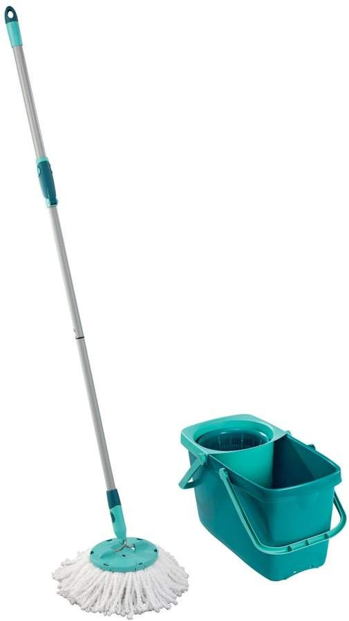 Leifheit 2 Pc Clean Twist Mop 5 Gallon Bucket With Spinner Set Mops Cleaning Cleaning Hacks